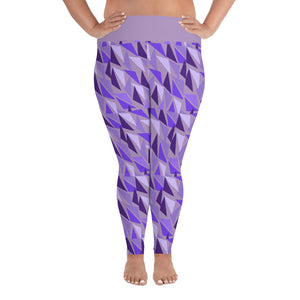 MK Geometric Lavender Plus Size Leggings