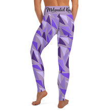 Load image into Gallery viewer, MK Geometric Lavender Yoga Leggings