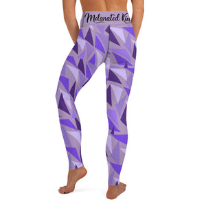 MK Geometric Lavender Yoga Leggings