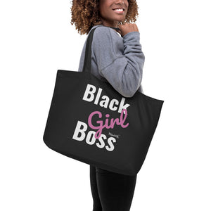 Black Girl Boss Large organic tote bag