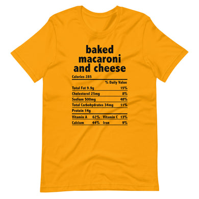 Baked Mac and Cheese Facts Short-Sleeve Unisex Tee