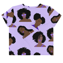 Load image into Gallery viewer, Kinky Curly All-Over Print Crop Tee