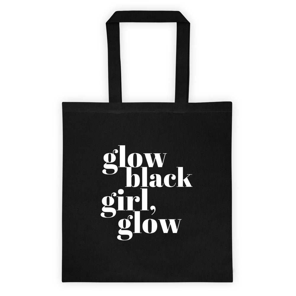 Glow Black Girl Tote bag
