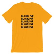 Load image into Gallery viewer, BLK GRL PWR Short-Sleeve Unisex Tee