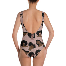 Load image into Gallery viewer, Kinky Curly Tan One-Piece Swimsuit