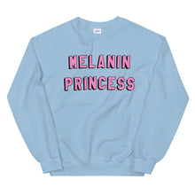 Load image into Gallery viewer, Melanin Princess Unisex Sweatshirt