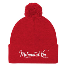 Load image into Gallery viewer, Melanated Kin Pom Pom Knit Cap