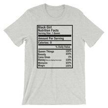 Load image into Gallery viewer, Black Girl Nutrition Facts Short-Sleeve Unisex Tee