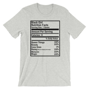 Black Girl Nutrition Facts Short-Sleeve Unisex Tee