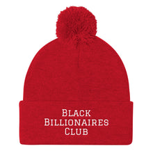 Load image into Gallery viewer, Black Billionaires Club Pom Pom Knit Cap