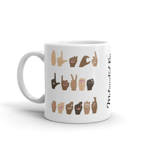Black Lives Matter Sign Language Mug