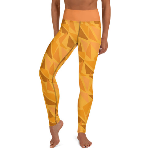 MK Geometric Orange Yoga Leggings