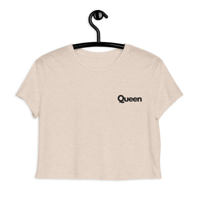 Queen Embroidered Crop Tee