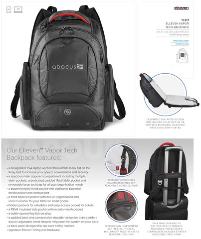 Elleven Vapor Tech Backpack Corporate gifts