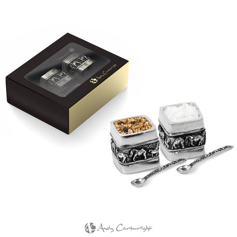 Andy Cartwright Elephant Salt & Pepper Pot Set Corporate gifts