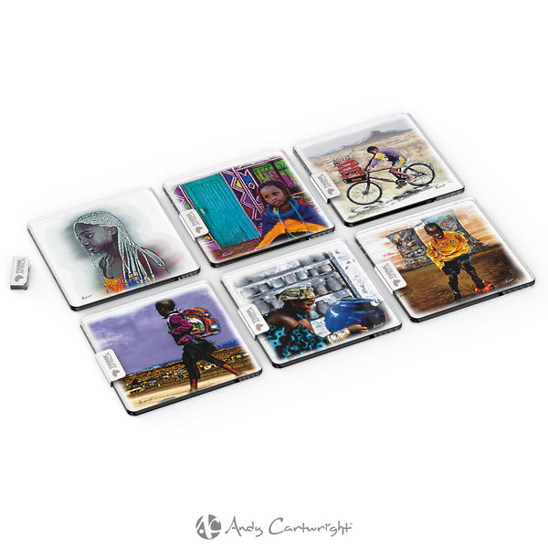 Andy Cartwright Afrique Glass Coasters Corporate gifts