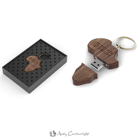 Andy Cartwright Afrique Wood Memory Stick Corporate gifts