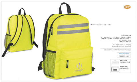 Safeway High Visibility Backpack Corporate gifts
