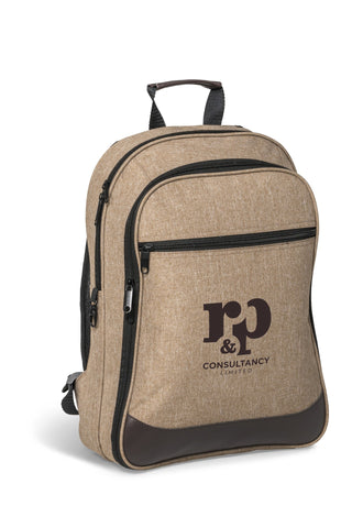 Capital Travel-Safe Tech Backpack - Brown Only Corporate gifts
