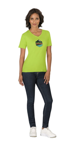 Ladies Super Club 165 V-Neck T-Shirt Corporate gifts