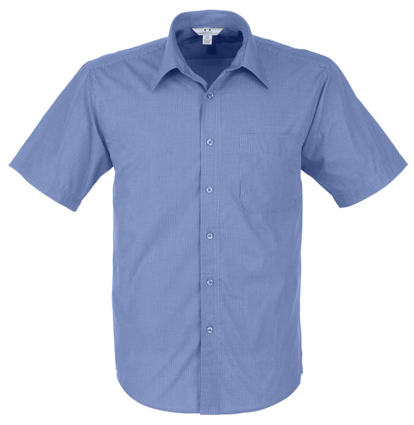 Mens Short Sleeve Micro Check Shirt Corporate gifts