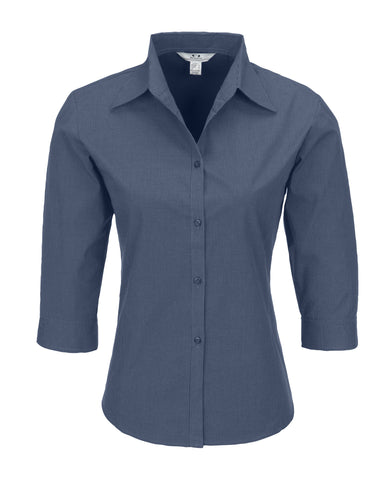 Ladies 3/4 Sleeve Micro Check Shirt Corporate gifts