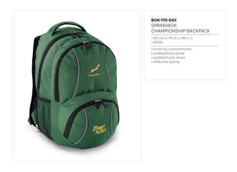 Springbok Championship Backpack Corporate gifts