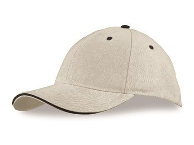 Newcastle Heavy Brushed Cotton 6 Panel Cap - Natural Only Corporate gifts