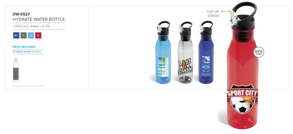 Hydrate Water Bottle - 750ml Corporate gifts