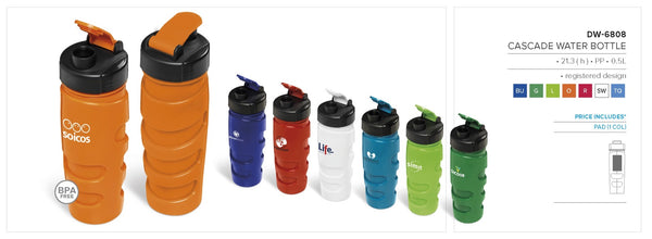 Cascade Water Bottle - 500ml Corporate gifts
