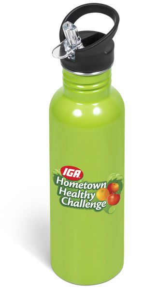 Ventura Flip Valve Lid Drink Bottle - Lime Only Corporate gifts