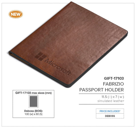 Fabrizio Passport Holder Corporate gifts