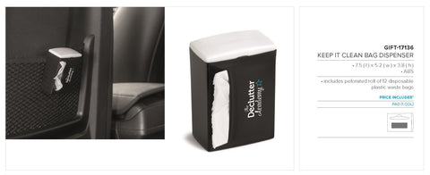Keep It Clean Bag Dispenser - Black Only Corporate gifts