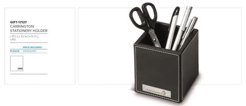Carrington Stationary Holder - Black Only Corporate gifts