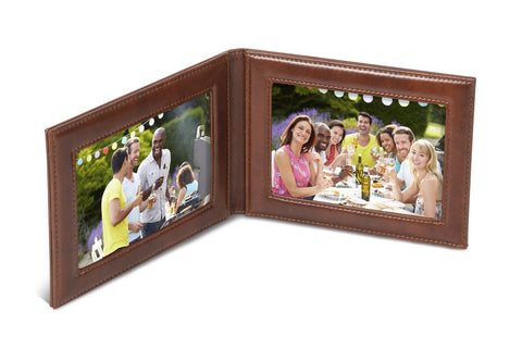 Fabrizio Fold Up Photo Frame Brown Only Corporate gifts