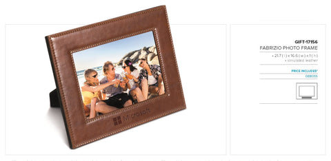 Fabrizio Executive Photo Frame - Brown Only Corporate gifts