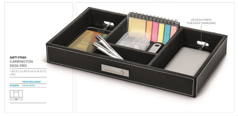 Carrington Desk Pro - Black Only Corporate gifts