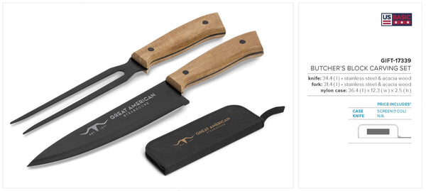 Butcher's Block Carving Set Corporate gifts