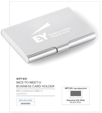 Nice-To-Meet-U Card Case Corporate gifts
