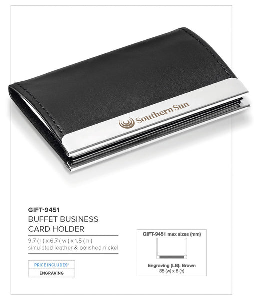 Buffet Business Card Holder Corporate gifts