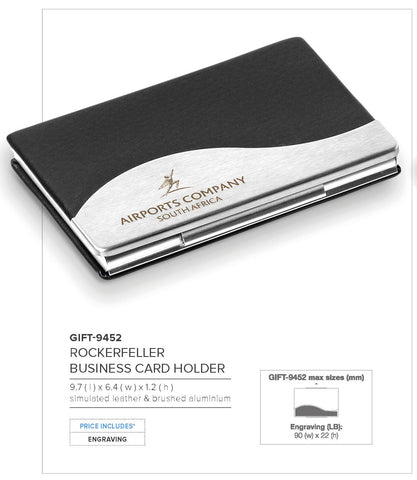 Rockerfeller Business Card Holder Corporate gifts