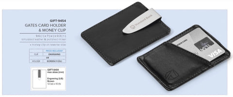 Gates Card Holder & Money Clip Corporate gifts