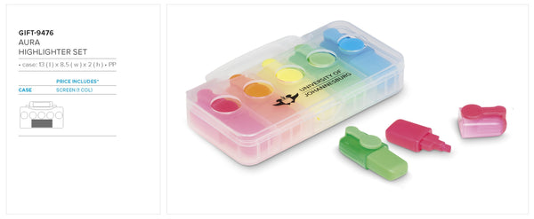 Aura Highlighter Set Corporate gifts