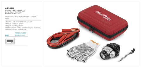 Drivetime Vehicle Emergency Kit Corporate gifts
