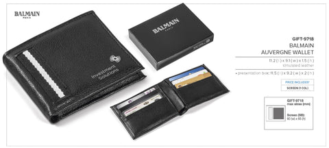 Balmain Auvergne Wallet Corporate gifts