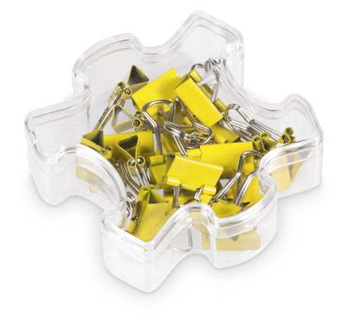 Jigsaw Binder Clips - Yellow Only Corporate gifts