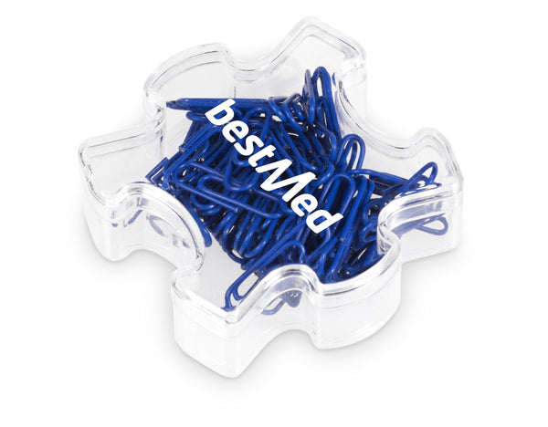 Puzzle Paper Clips - Blue Only Corporate gifts