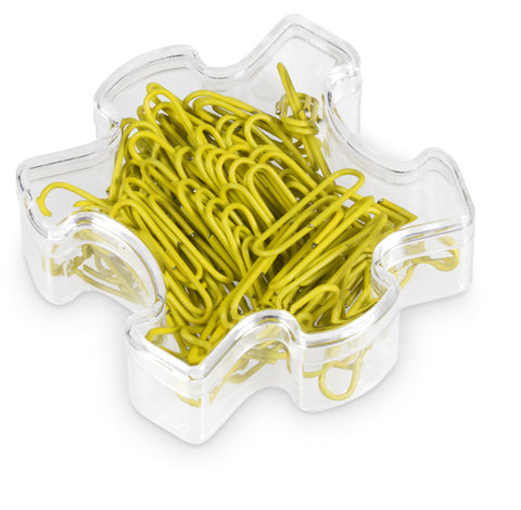 Puzzle Paper Clips - Yellow Only Corporate gifts