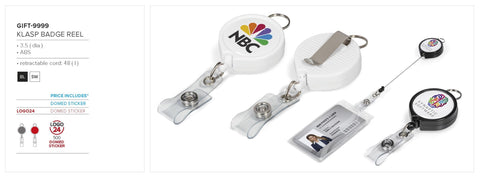 Klasp Badge Reel Corporate gifts