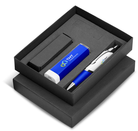 Omega Nine Gift Set 2200mAh - Blue Only Corporate gifts